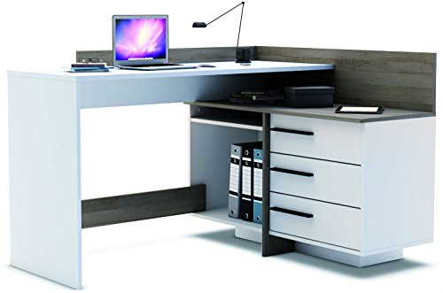 Brand-New-Modern-Corner-3-Drawer-Dark-Office-DeskTable-Thales-0