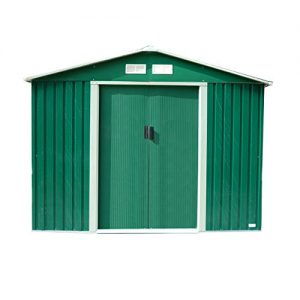 Charles-Bentley-8Ft-X-6Ft-Metal-Garden-Storage-Shed-Zinc-Frame-Green-0