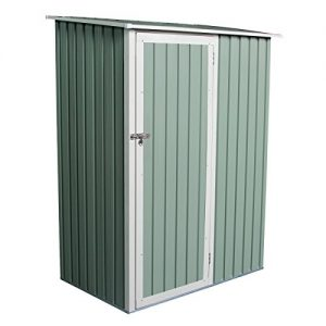 Charles-Bentley-Garden-47ft-x-3ft-Metal-Storage-Shed-Chest-Small-Green-Roof-Door-Apex-0