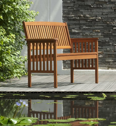 Chichester Fsc Eucalyptus Wood Outdoor 2 Seater Bench
