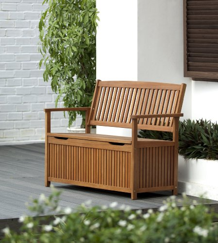 Chichester Fsc Eucalyptus Wood Outdoor 2 Seater Storage