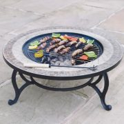 Combined-Fire-Pit-76cm-and-Coffee-Table-Beacon-Star-BBQ-Grid-Spark-Guard-Poker-Weather-Cover-0-0