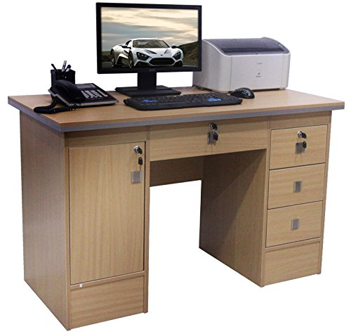 Computer-Desk-in-Black-Beech-White-Walnut-Oak-With-3-Locks-4-Home-Office-0