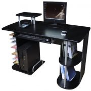Computer-Desk-in-Black-Finish-with-Keyboard-Shelf-Home-Furniture-Office-Workstation-X23-0-0