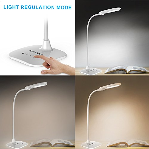 Warehouse Lighting Lux Levels Uk: Desk Lamp,TeckNet 10W EyeCare Dimmable Portable USB