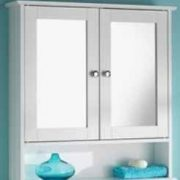 Double-Door-Bathroom-Mirror-Cabinets-White-Cream-OAK-0-0