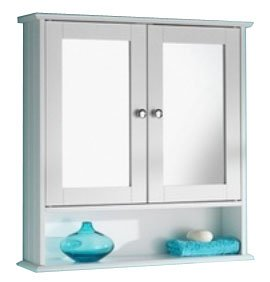 Double-Door-Bathroom-Mirror-Cabinets-White-Cream-OAK-0