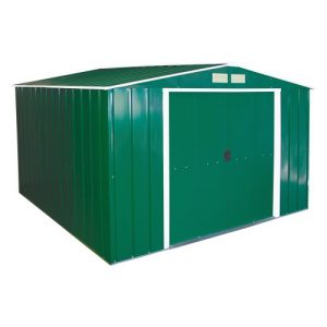 Duramax-10-x-10ft-Eco-Metal-Shed-with-OW-Trim-Green-0