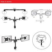 Duronic-DM352-Double-Twin-LCD-LED-Desk-Mount-Die-Cast-Aluminium-Arm-Monitor-Stand-Bracket-Super-Strong-with-Tilt-and-Swivel-Tilt-15Swivel-180Rotate-360-10-Year-Warranty-0-3