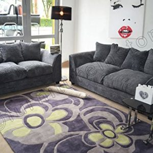 Dylan-Byron-Grey-Fabric-Jumbo-Cord-Sofa-Settee-Couch-32-Seater-0