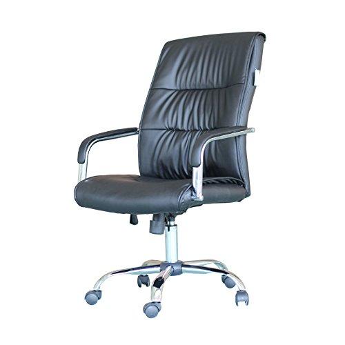 Ebs Modern Swivel Pu Leather Executive High Chrome Base