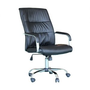 EBS-Modern-Swivel-PU-Leather-Executive-High-Chrome-Base-Office-Furnitue-Computer-Desk-Chair-Black-0