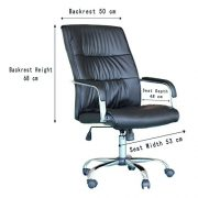 EBS-Modern-Swivel-PU-Leather-Executive-High-Chrome-Base-Office-Furnitue-Computer-Desk-Chair-Black-0-5