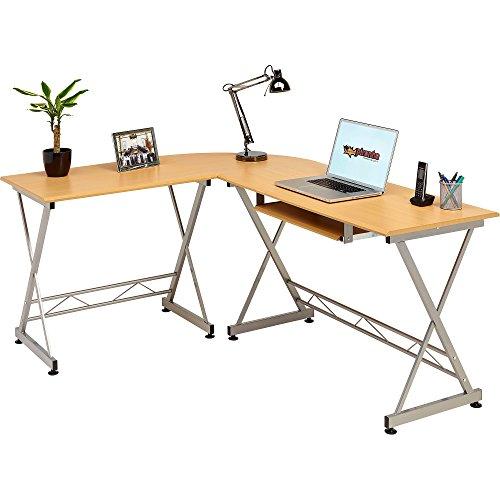 Genuine Piranha Dorado Corner Computer Desk Keyboard Shelf
