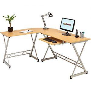 Genuine-Piranha-Dorado-Corner-Computer-Desk-Keyboard-Shelf-PC9b-0