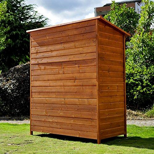 Wooden Garden Storage: Homcom Wooden Timber Garden Storage Shed
