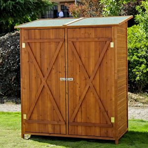 Homcom-Wooden-Timber-Garden-Storage-Shed-Double-Door-159cm-x-140cm-x-75cm-0
