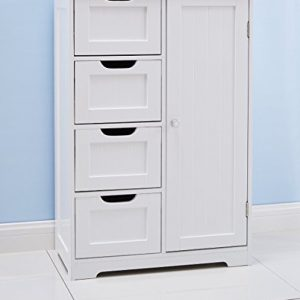 Home-Treats-White-Wooden-Bathroom-Cabinet-With-Four-Drawers-Cupboard-Ideal-For-Bathroom-or-Bedroom-0