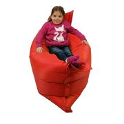 Kids-BeanBag-Large-6-Way-Garden-Lounger-GIANT-Childrens-Bean-Bags-Outdoor-Floor-Cushion-RED-100-Water-Resistant-0-2
