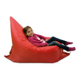 Kids-BeanBag-Large-6-Way-Garden-Lounger-GIANT-Childrens-Bean-Bags-Outdoor-Floor-Cushion-RED-100-Water-Resistant-0