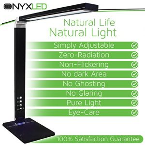 LED-Desk-Lamp-14W-Adjustable-Reading-Desk-Light-Dimmable-Touch-Table-Lamp-w-3-Color-Temperatures-5-Level-Dimmer-USB-Charging-Port-Piano-Black-Glossy-Finish-by-OnyxLED-0