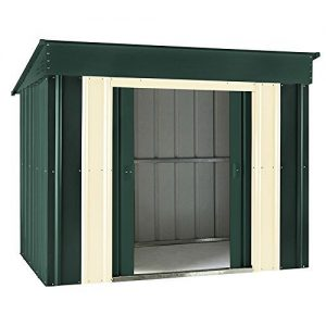 LOTUS-LOTUSLOWPENTHG64-6-x-4ft-Low-Pent-Metal-Shed-Heritage-Green-0
