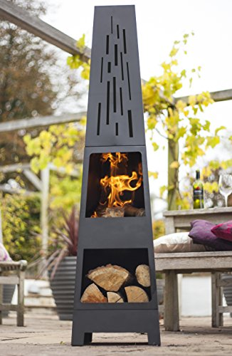 La Hacienda 150 Cm Oxford Contemporary Steel Chiminea