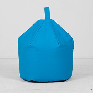 Large-Childrens-Kids-Cotton-Bright-Blue-Turquoise-Bean-Bag-Beanbag-With-Filling-0