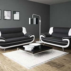 Lewis-Black-White-PU-Leather-32-Seater-Sofa-Suite-0