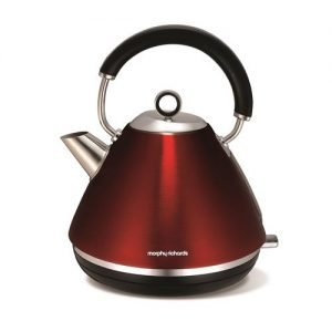 Morphy-Richards-102004-Accents-Pyramid-Kettle-Red-0
