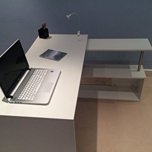 New-OXFORD-Designer-White-Computer-PC-Home-Study-Office-Corner-Desk-0