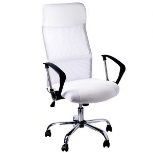 Office-swivel-desk-chair-executive-high-back-pc-computer-office-chairs-white-padded-PU-Leather-tilt-function-ergonomic-armchair-racing-chairs-with-net-cover-0