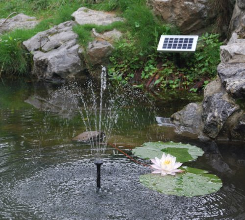 Pk Green Solar Fountain Pump With 2w Panel 70cm Height