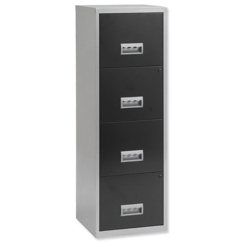 Pierre-Henry-4-Drawers-Maxi-Filing-Cabinet-Silver-Black-0