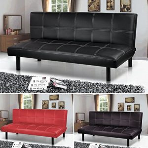 Popamazing-BlackRedBrown-Super-Strong-Soft-Sofa-Bed-Space-saving-Design-Sofabed-Bed-size168cm-x-93cm-x-32cm-Sofa-Size-168cm-x-50cm-x-32cm-0