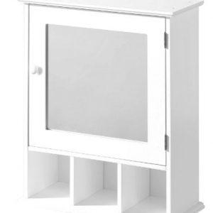 Premier-Housewares-Bathroom-Cabinet-with-Mirrored-Door-and-3-Compartments-58-x-46-x-20-cm-White-0