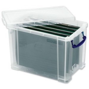 Really-Useful-Filing-Box-Plastic-with-10-suspension-files-A4-19-Litre-W290xD255xH395mm-Ref-19C10susp-0