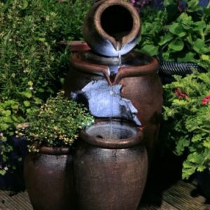 Redwell-Honey-Pot-Two-Tier-Cascade-Water-Feature-and-Planter-with-LED-Lights-0