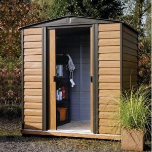 Rowlinson-Woodvale-8-x-6ft-Metal-Shed-0