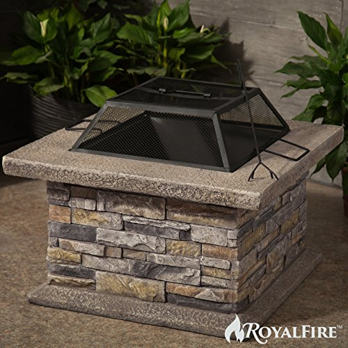 Royalfire Rfjc19802wbf Ns Square Fibreglass Wood Burning