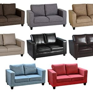 Seconique-Tempo-Sofa-Two-Seater-Sofa-in-a-Box-Fabric-or-Faux-Leather-Choice-of-Colours-0