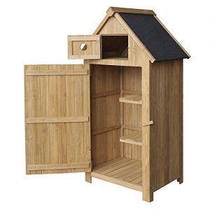 Slim-utility-shed-made-of-fir-wood-with-a-tar-roof-770x540x1420mm-building-plans-garden-storage-0