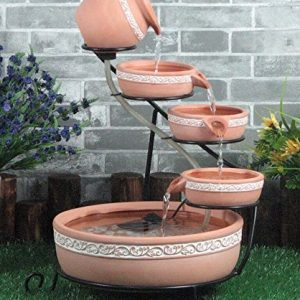 Solar-Terracotta-Cascading-Water-Feature-with-battery-back-up-with-lights-0