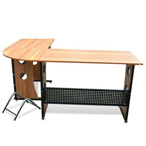 Tinxs-Stable-Corner-Computer-Desk-Home-Office-PC-Table-With-Shelves-for-PC-base-Keyboard-L-Shaped-in-Glass-3-Colors-to-Choose-from-Light-Walnut-0