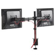 VonHaus-Double-Twin-Arm-LCD-LED-Monitor-Desk-Mount-Bracket-for-13-27-Screens-with-45-Tilt-360-Rotation-180-Pull-Out-Swivel-Arm-Max-VESA-100x100-Free-2-Year-Warranty-0-4