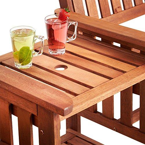 Vonhaus Jack And Jill Love Seat Companion Garden Bench Set