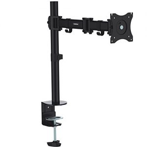 VonHaus-Single-Arm-LCD-LED-Monitor-Desk-Mount-Bracket-for-13-27-Screens-with-45-Tilt-360-Rotation-180-Pull-Out-Swivel-Arm-Max-VESA-100x100-Free-2-Year-Warranty-0