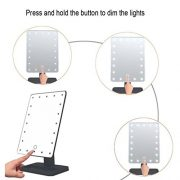 WanEway-Next-Generation-Makeup-Mirror-with-Lights-20-Bright-LEDs-12-Large-Screen-Touch-Dimmable-with-Memory-Function-Removable-10-x-Magnification-Spot-360-Degree-Free-Rotation-Lighted-Illuminated-Vani-0-1