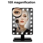 WanEway-Next-Generation-Makeup-Mirror-with-Lights-20-Bright-LEDs-12-Large-Screen-Touch-Dimmable-with-Memory-Function-Removable-10-x-Magnification-Spot-360-Degree-Free-Rotation-Lighted-Illuminated-Vani-0-2