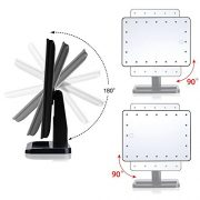WanEway-Next-Generation-Makeup-Mirror-with-Lights-20-Bright-LEDs-12-Large-Screen-Touch-Dimmable-with-Memory-Function-Removable-10-x-Magnification-Spot-360-Degree-Free-Rotation-Lighted-Illuminated-Vani-0-3